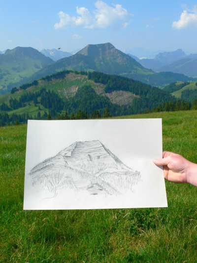 Das selbstgezeichnete Alpsteinpanorama