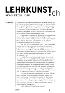 Newsletter 1/12